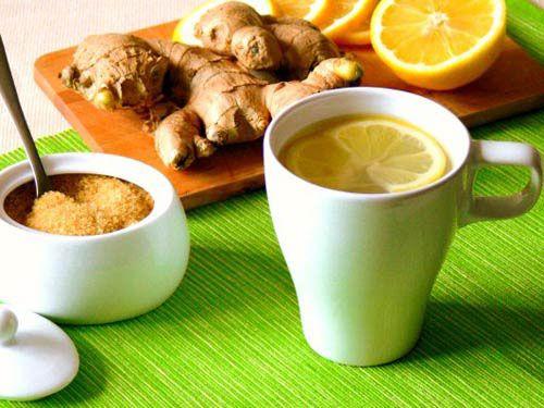 Чай с имбирем и апельсином