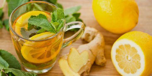 Мятно-цитрусовый чай с имбирем