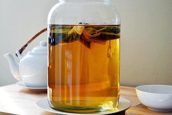 Чайный напиток с грибом