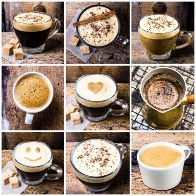 Виды напитка кофе
