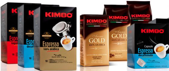 Ассортимент кофе Кимбо