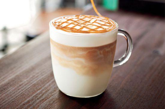 Кофе, украшенное карамелью