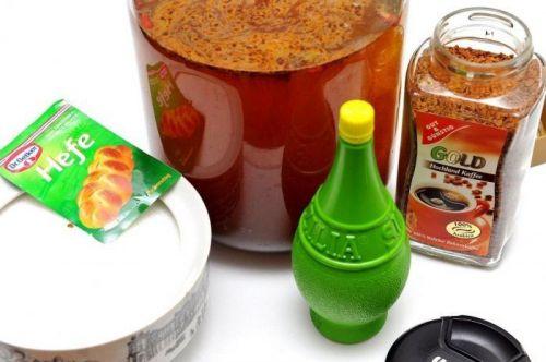 Ингредиенты для кофейного кваса