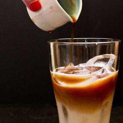 Приготовление айс-кофе