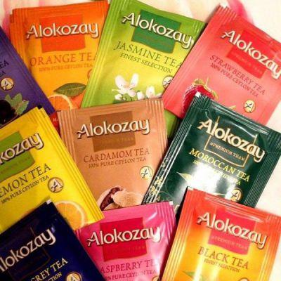 Ассортимент чая Алокозай