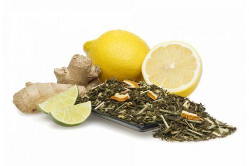 Зеленый чай, имбирь, лимон
