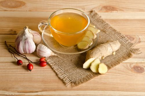 Ингредиенты для имбирного чая с чесноком