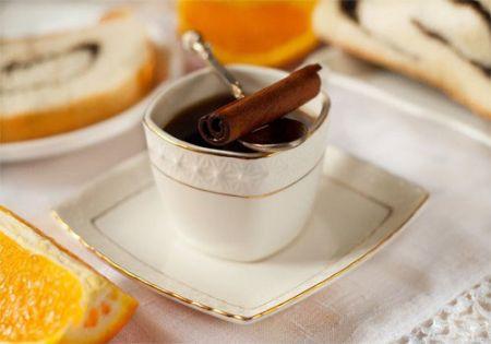 Кофе с апельсином и корицей