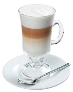 Слои кофе латте