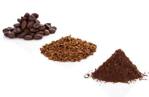 Зерновой, молотый и растворимый кофе