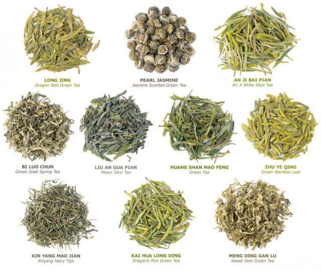 Сорта зеленого чая из Китая