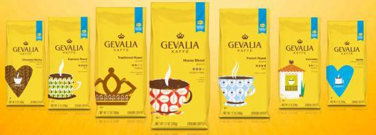 Упаковки с кофе Гевалия
