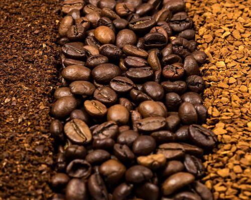 Кофе зерновой, молотый и сублимированный