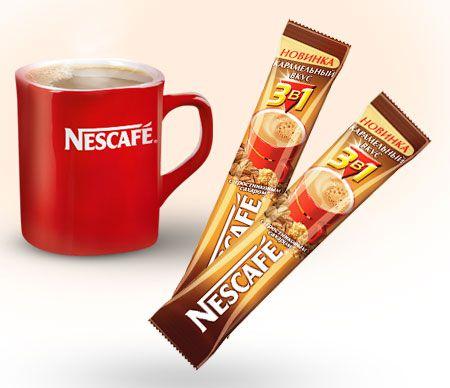 Кофе Нескафе три в одном