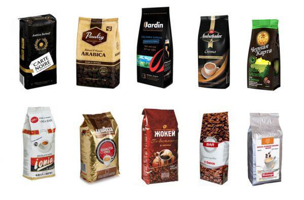 Торговые марки молотого кофе