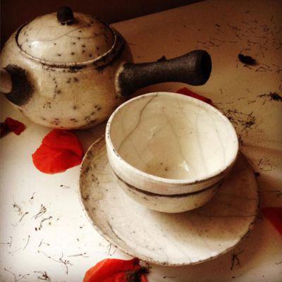 Старинный набор для чайной церемонии