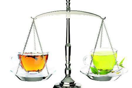 Различие черного и зеленого чая в способе заваривания