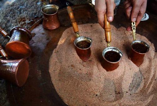Варка кофе на песке