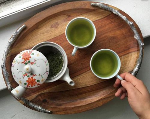 Заваренный чай сенча