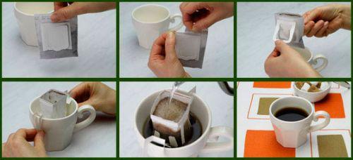 Заваривание кофе с помощью фильтра