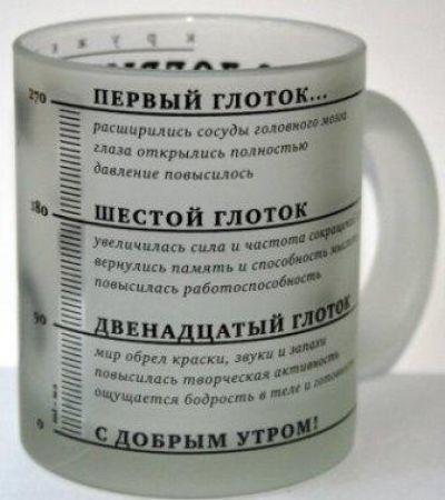 Чашка кофе с надписями