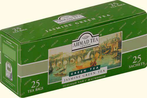 Зеленый чай Ахмад в пакетиках