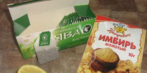 Зеленый чай и молотый имбирь