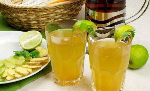 Чай с имбирем и лаймом