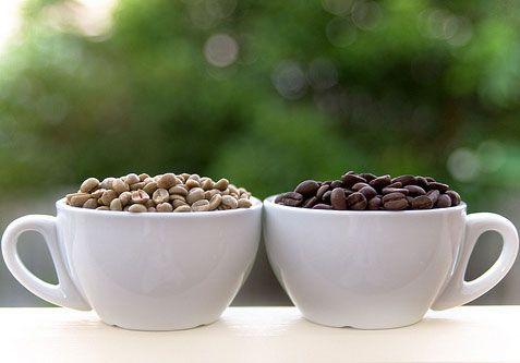 Зеленый и черный кофе