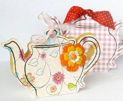 Шаблон чайника для хранения чайных пакетов