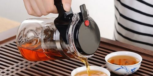 Стеклянный чайник с фильтром