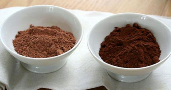 Алкализированное и обычное какао