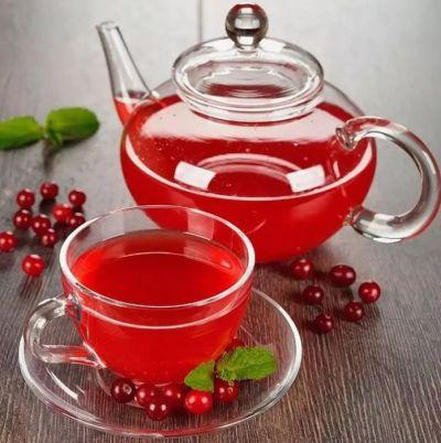 Чай из ягод брусники