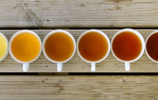 разный цвет чая