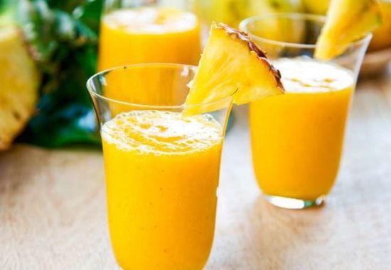 Смузи с манго и ананасом
