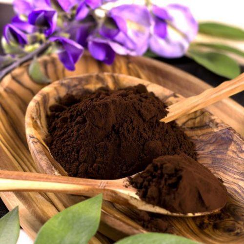 какао и цветок