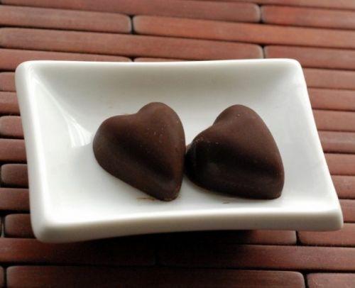 сердечки шоколадные