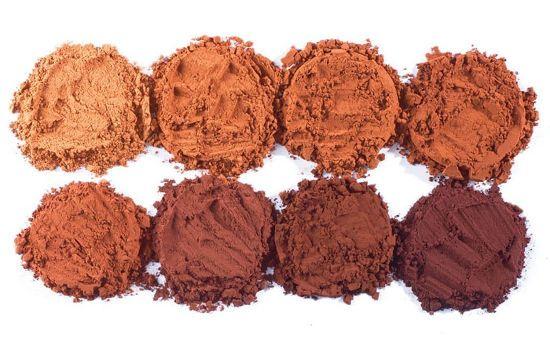 Какао разного цвета