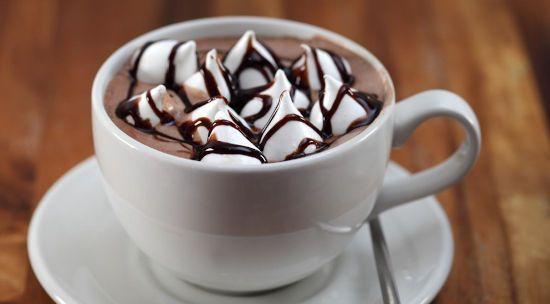 Какао с маршмеллоу и топингом
