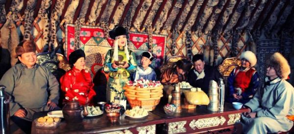 Чаепитие монгольского чая