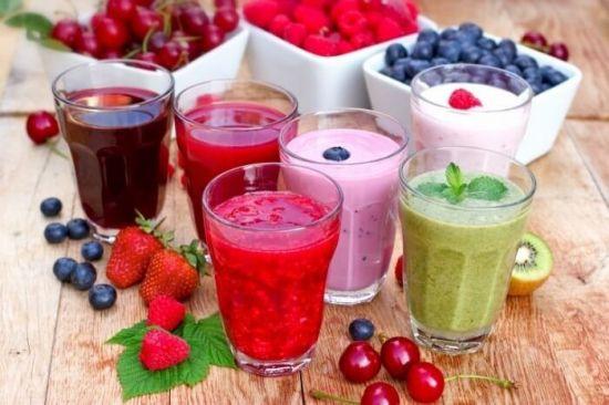 Смузи из разных фруктов