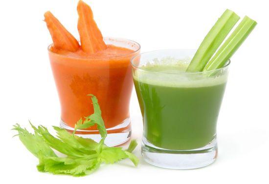 Морковный и сельдерейный сок