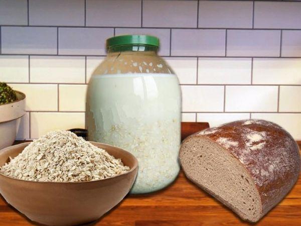 Приготовление овсяного киселя с коркой хлеба