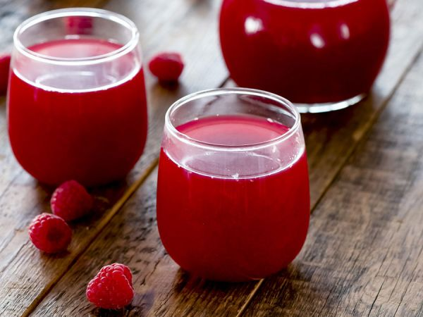 Кисель из ягод малины