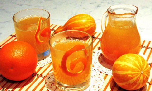 Компот из тыквы и апельсина
