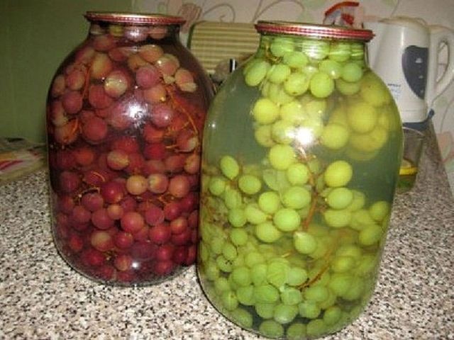 Заготовка виноградного компота на зиму