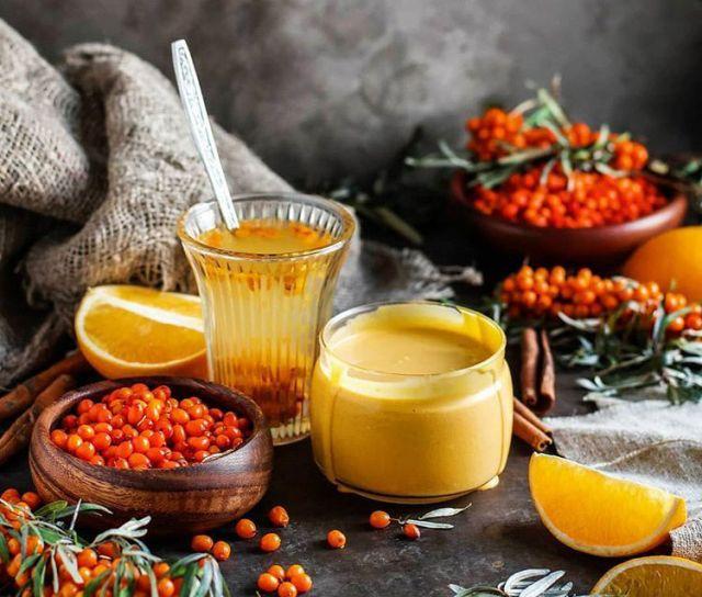 Облепиховый сбитень с апельсином