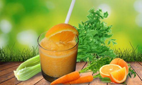 Смузи с морковью, сельдереем, апельсином