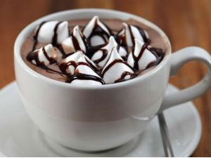какао с зефирками