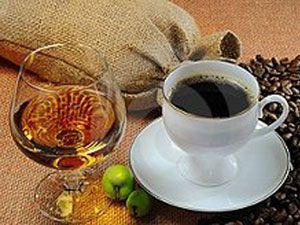 Кофе коньяк
